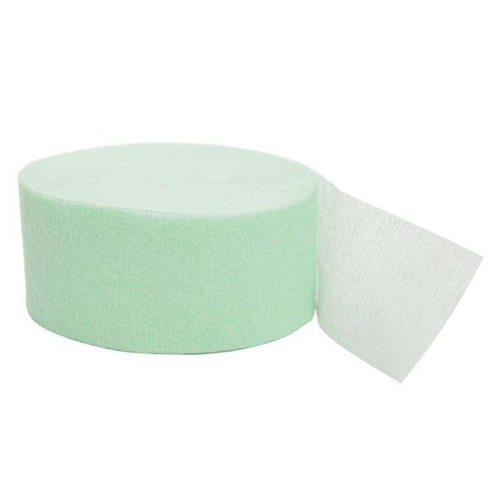 81ft Mint Crepe Paper Streamers