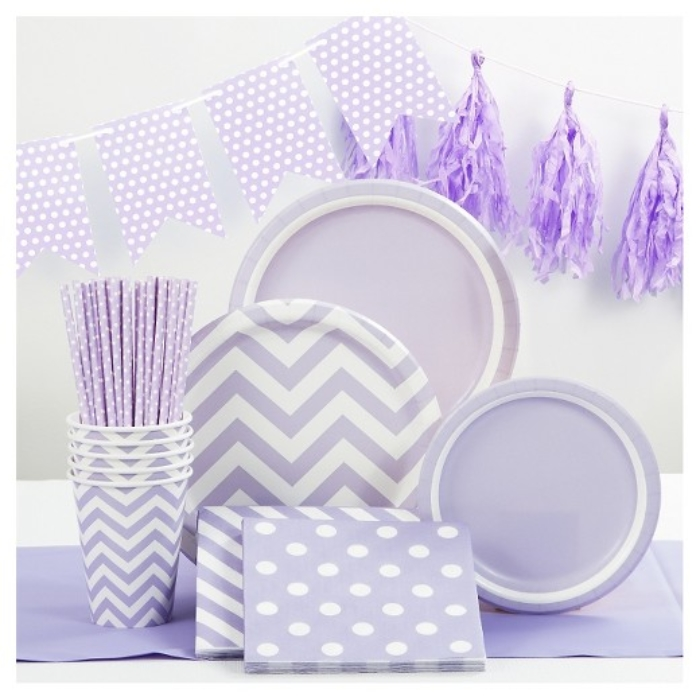 Lavender Purple Party Supplies Collection Spritz™