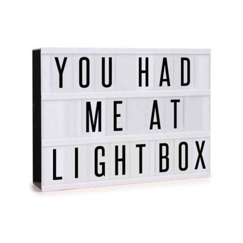 Lightbox Light Up Marquee Box Sign