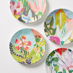 Lulie Wallace Melamine Canape Plate Set