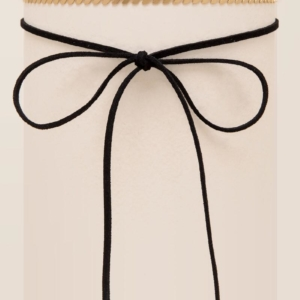 Rebecca Self Tie Black Bow Choker