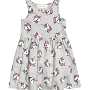Unicorn Dress Little Girls Dress Pattern Jersey Dress