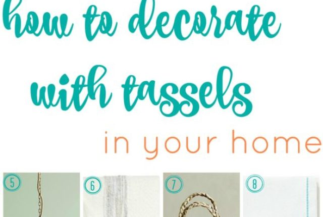 how to decorate with tassels