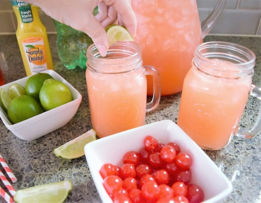 Cherry Limeade Orange Juice Sunrise Recipe