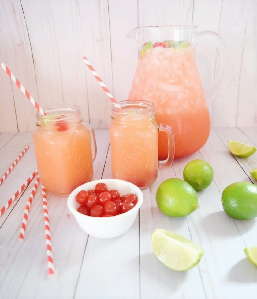 Cherry Limeade Recipe with Orange Juice