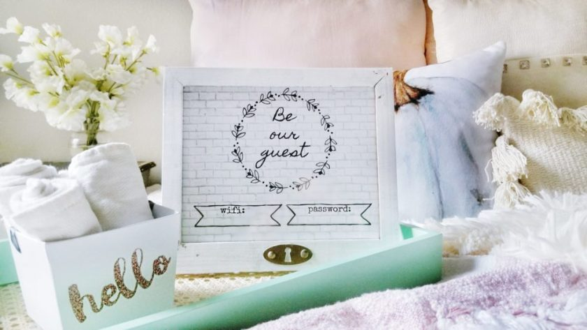Be Our Guest Wifi Frame DIY