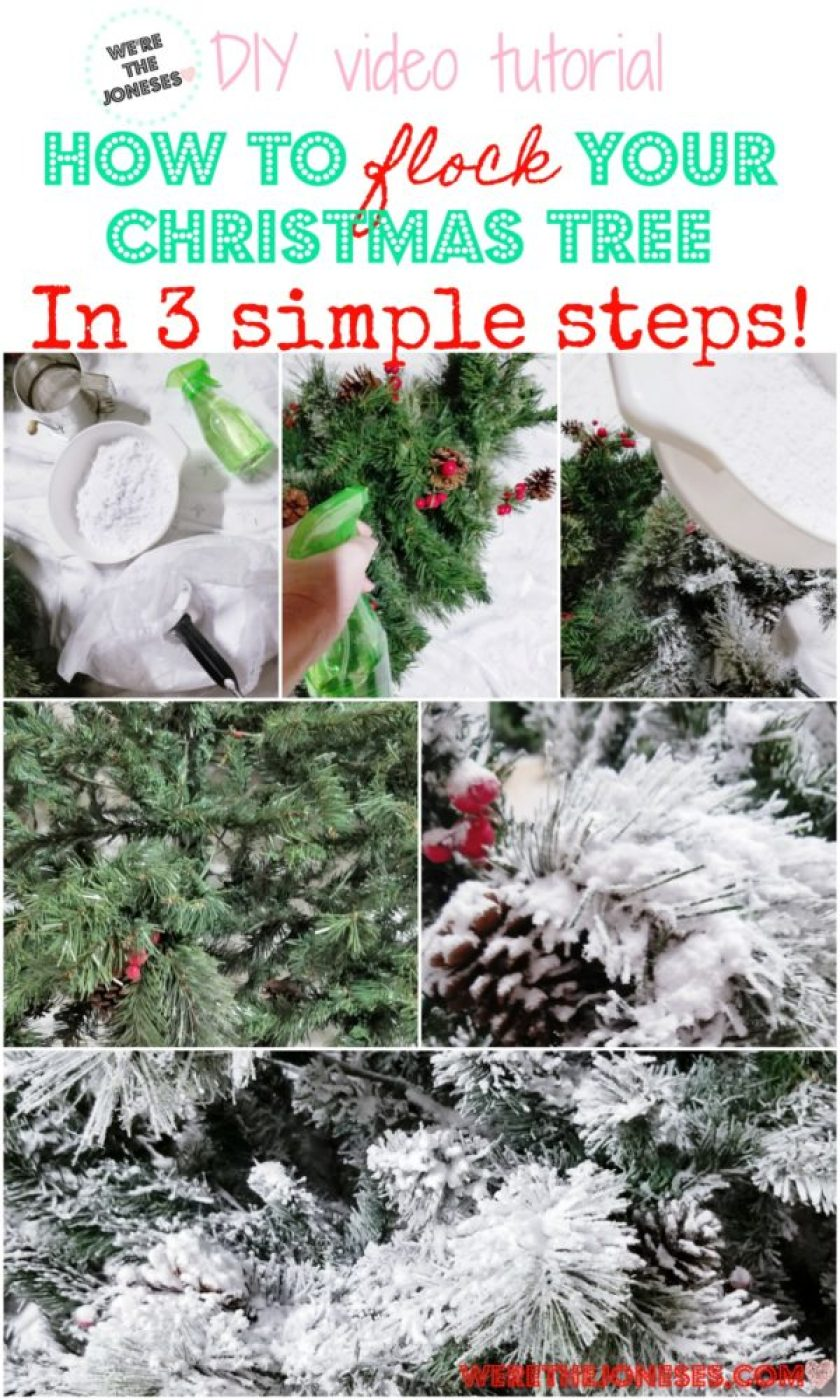 How to flock your Christmas tree in three simple steps