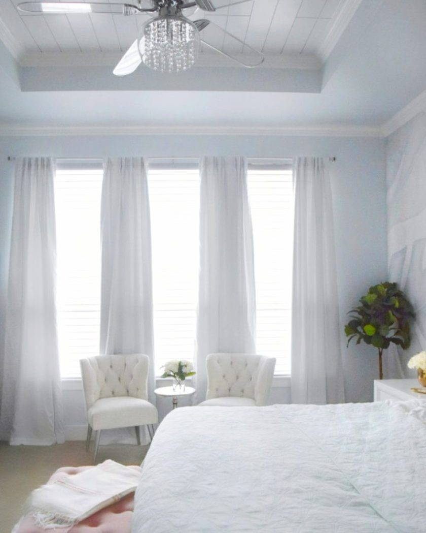A Beautiful Tropical Romantic Master Bedroom Makeover » We