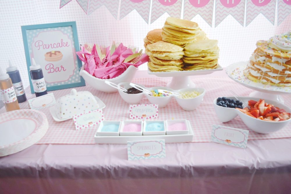 A Preppy Pretty Pancakes and Pajamas Birthday Party Were The Joneses