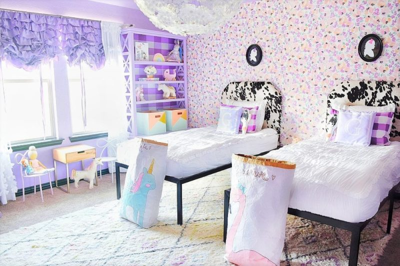 Little Girls Bedroom for Genevieve & Georgia | A Whimsical ...