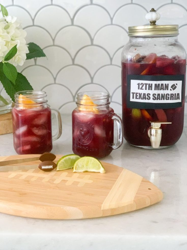 texas sangria recipe with whiskey an easy recipe for crowd, tailgates, or homegating football parties