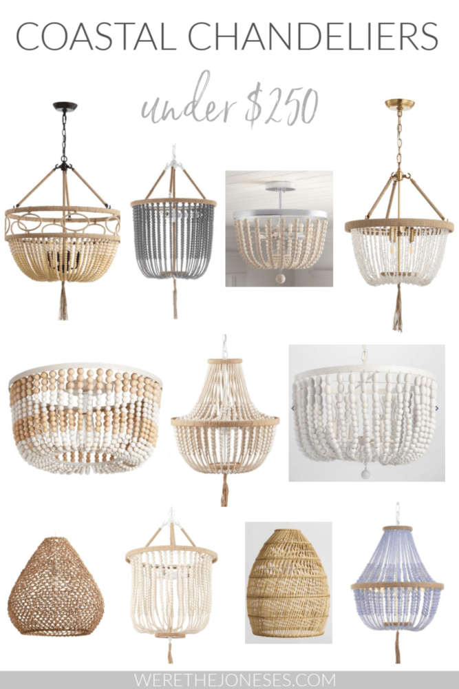 12 coastal chandeliers under 250