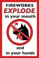 WereWatchers - no fireworks sign