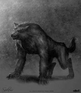 Sadness Werewolf Concept Art