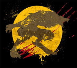 Yellow Full-moon Werewolf Logo