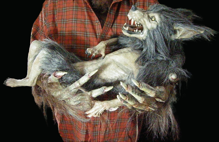 Down & Dirty Deluxe Werewolf Costume (and a Baby Werewolf Puppet