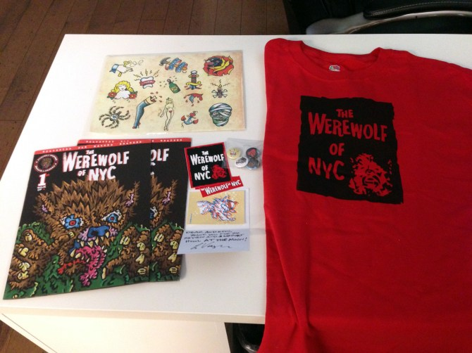 Werewolf of NYC Kickstarter Swag