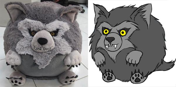 Squishable werewolf prototype