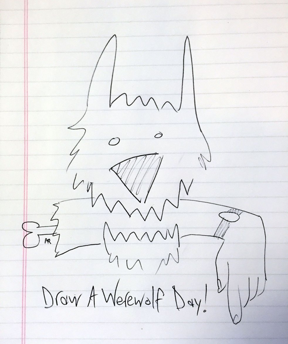 Draw (or doodle) A Werewolf Day