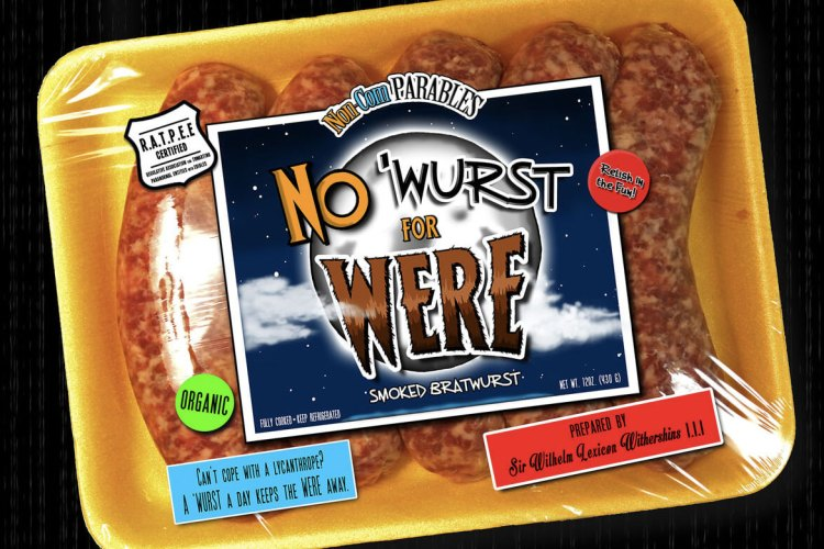 "Kids can get their fill of vocabulary & werewolf danger with ""No 'Wurst For Were"" featured image"