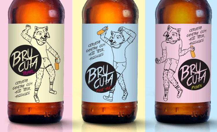 Hipster werewolves party on Brazilian Brucuta Beer label featured image
