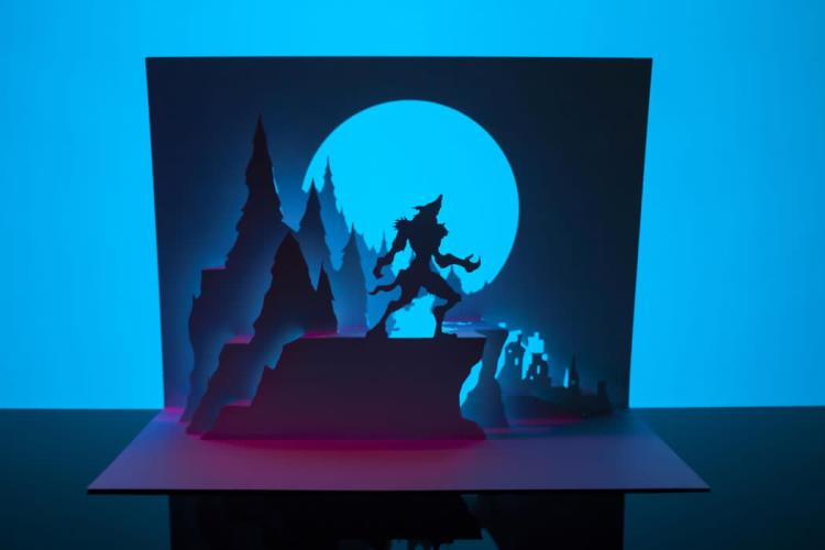 Cut & fold your own paper werewolf with Paper Dandy's Horrorgami featured image