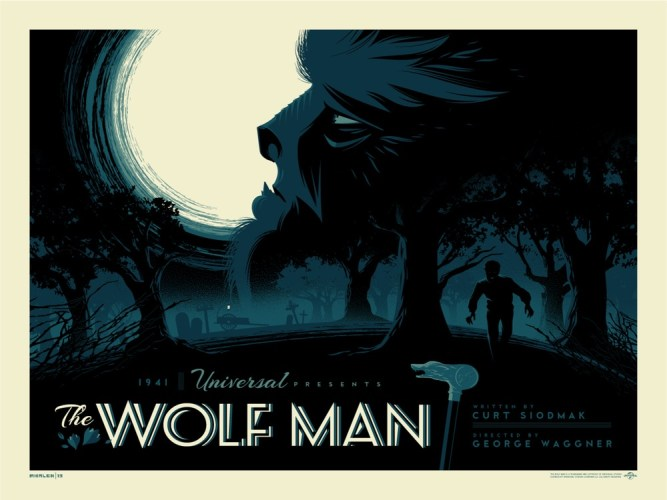 """Moody & beautiful """"THE WOLF MAN"""" print from Tom Whalen on sale today featured image"""