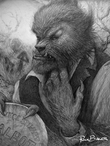 "When you're Rick Baker even your ""unfinished sketch"" of a werewolf makes fans like me lose their minds featured image"