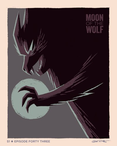 """Moody, gorgeous Batman: The Animated Series """"Moon of the Wolf"""" poster by George Caltsoudas featured image"""