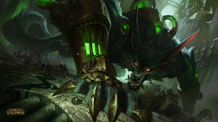"League of Legends's werewolf Warwick becomes ""The Wrath of Zaun"" & ""a steampunk hyena"" in update featured image"