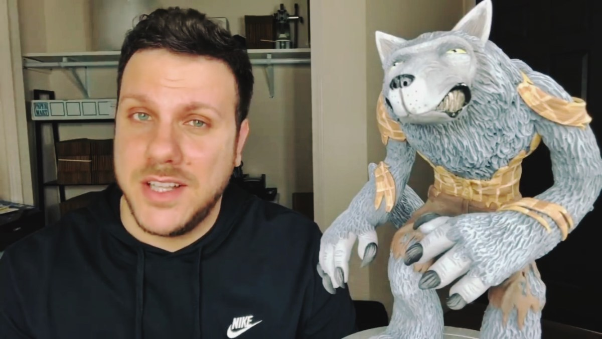 Polymer Clay Werewolf Sculpture by Ace of Clay featured image