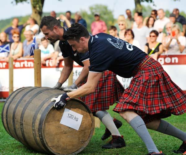 Trainingstermin für die Highland Games