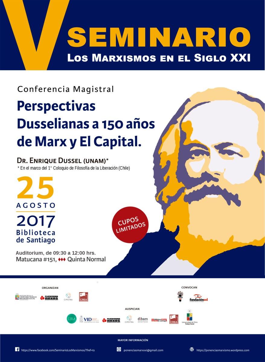 Chile -  V Seminario Los Marxismos en el Siglo XXI,  viernes 25 de agosto