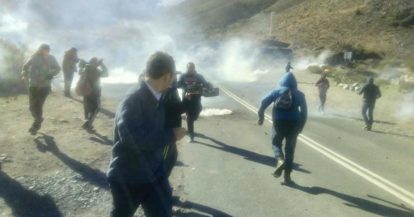 Chile: Represión a manifestantes en acceso a minera Los Pelambres
