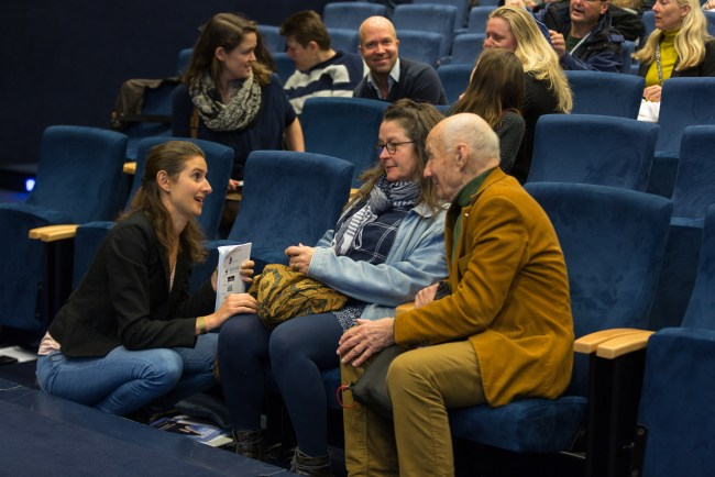 Anne-Marie Svoboda (Ministery of LNV) talking with Sophier Brasseur and Jan Beiboer