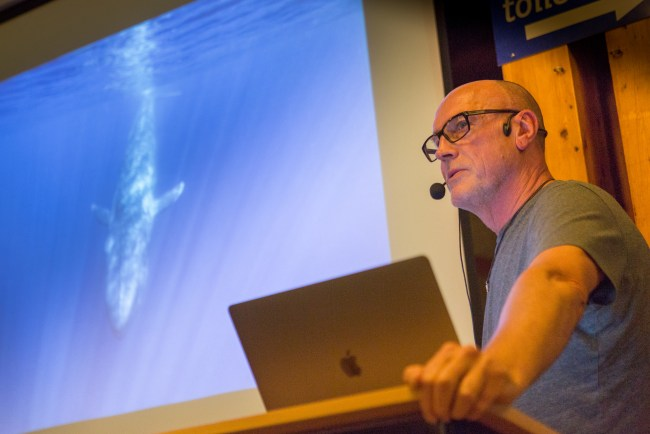 Andrew Sutton talks about Pilot Whale Hunting in the Faroes.
