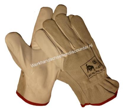 Chauffeurshandschoen rund/boxleder met splitrug. EN 388 Beschikbaar in maten 10 Type: BOXLEDER