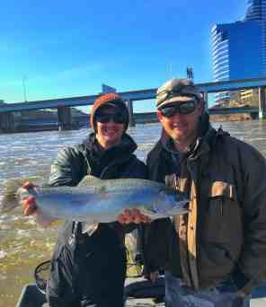 Grand River Steelhead in Grand Rapids, Michigan
