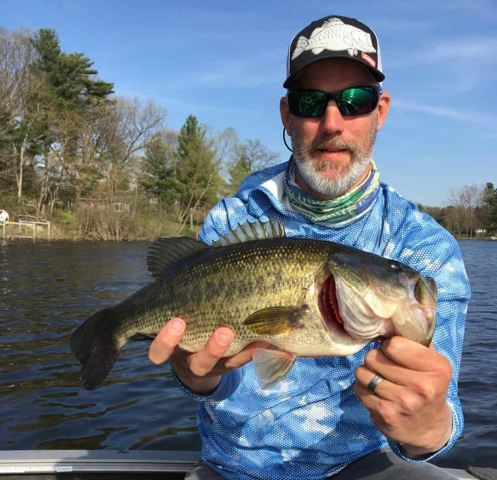 Bayou largemouth bass on the Grand River