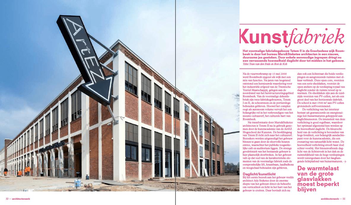 AWM artikel Kunstfabriek Teun van den Ende Rosi de Kok