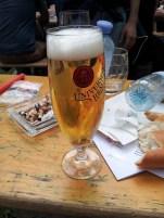 Der Radler um 16:00 (halb Bier, viertel Almdudler, viertel Soda)