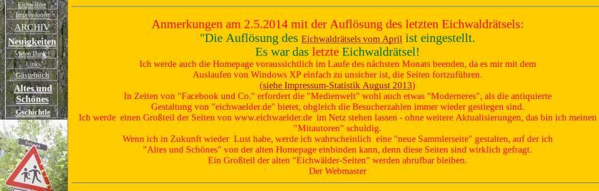 Abschied auf www.eichwaelder.de