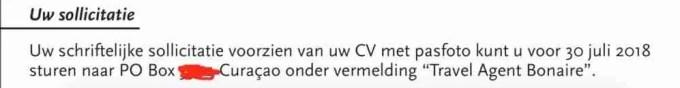 Vacature vraagt om pasfoto met cv solliciteren