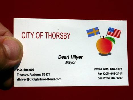 Thorsby - borgmstarens visitkort