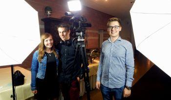 Das Filmteam, jung und motiviert: (v.l.) Kim Laura Losch, Tobias Beier, Tim Schneider (alle 21)