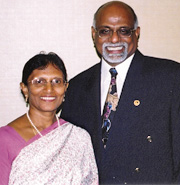 Dr. Paul R. Gupta with his wife Linnet. Dr. Gupta is Director of Hindustan Bible Institute (HBI), Chennai, India. Mission ONE has been partnering with HBI to support indigenous evangelists and church planters since in the early 1990s.