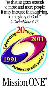 Mission ONE 20th Anniversary logo