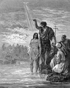 The Baptism of Jesus, by Gustav Doré, 1823–1833.