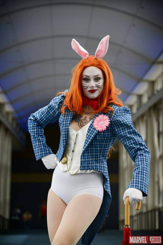Kearstin as White Rabbit by Judy Stephens of Marvel.com