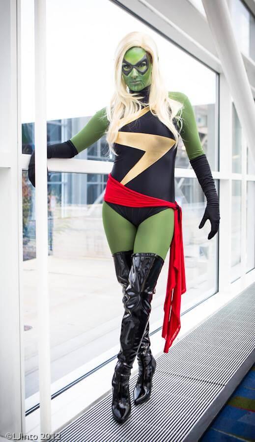 Kearstin as Skrull Ms Marvel by Leonard Jinto